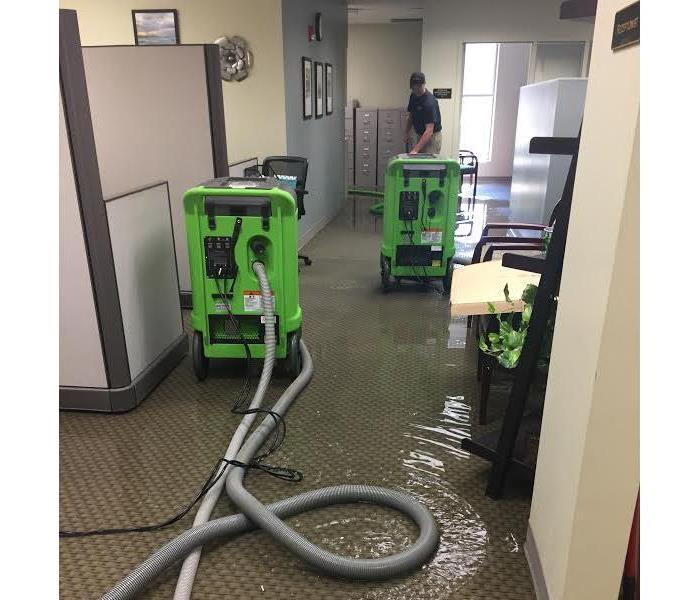 Commercial Water Damage Before